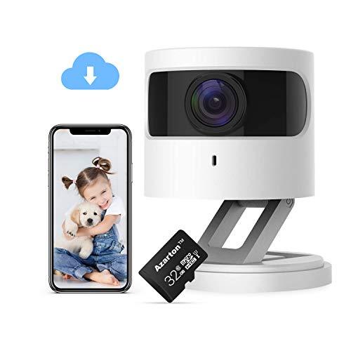 Azarton WiFi Kamera, 1080p HD WLAN IP Kamera Smart Home Innen Überwachungskamera Kamera mit Nachtsicht,...
