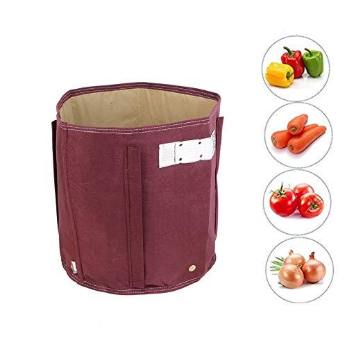 ZMYLOVE Pflanztopf, Growing Bag Outdoor Gemüseanbaubeutel atmungsaktiv weiches Vlies für den Kindergarten...