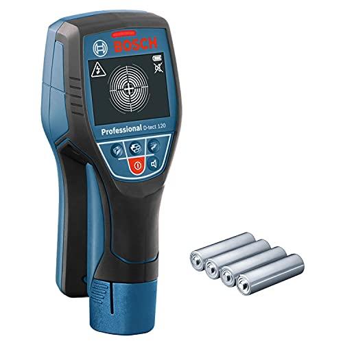 Bosch Professional Ortungsgerät D-tect 120 (4 x AA Batterien, max. Ortungstiefe für...