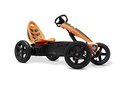 BERG Gokart Rally Orange | Kinderfahrzeug, Tretauto mit verstellbarer Sitz, Mit Feilauf, Kinderspielzeug...
