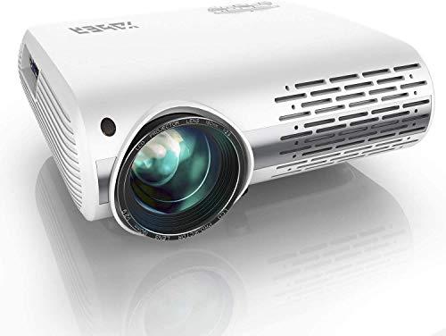 Beamer,YABER Beamer 7200 Lumen,Native 1080P Beamer,Beamer Heimkino Full HD mit ±50°4D Trapezkorrektur...