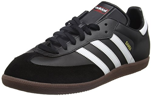 adidas Unisex-Erwachsene Fußballschuh Samba Low-Top Sneakers, Schwarz (Black/Running White Footwear), 44 EU