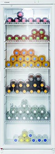 Bomann KSG 239.1 Glastür-Getränke-Flaschen-Kühlschrank, 320 L, HxBxT 173x60x60 cm,...