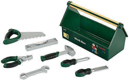 Theo Klein 8573 Bosch Werkzeug-Box I 7-teiliges Werkzeug-Set I Stabile Box mit praktischem Tragegriff I Maße:...