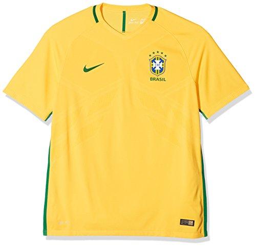 Nike Kinder Trikot Brasilien Vapor Match Trikot Home 2016 Herren, gelb/grün, XL - 52/54, 724596-703