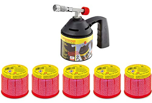 ROTHENBERGER Industrial RoFlame Economy Lt Lampen Set inkl. 5 Gas Kartuschen - 1000000985