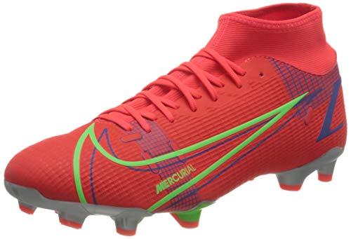 Nike Unisex Mercurial Superfly 8 Academy Fg/Mg Fußballschuhe, Bright Crimson Metallic Silver Indigo Burst...