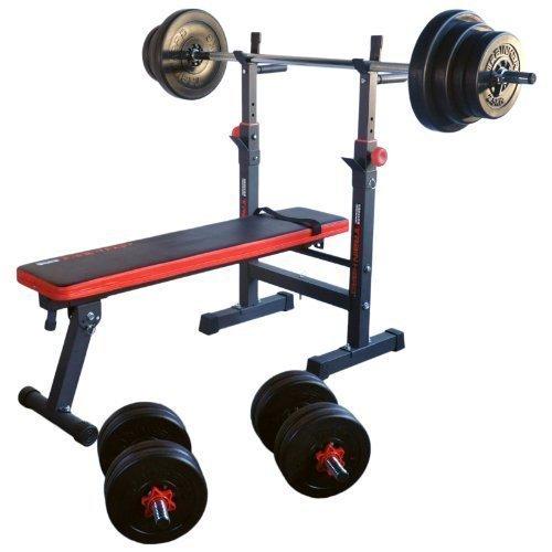 TrainHard® Hantelbank Trainingsbank Multifunktion/Zertifiziert nach DIN/mit Gewichten bis 150kg aus Hanteln...