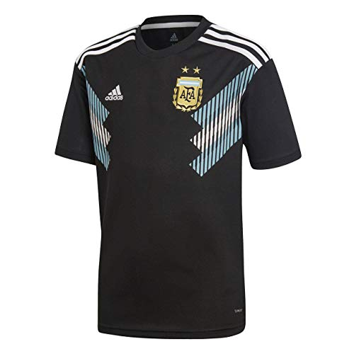 adidas Kinder Argentinien Replica Auswrtstrikot, Black/Clblue/White, 152.0