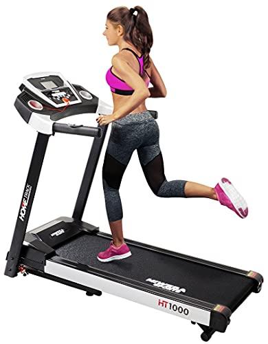 Miweba Sports elektrisches Laufband HT1000 - Incline 6% - Klappbar - 1,75 Ps - 16 Km/h - 12+4 Laufprogramme -...