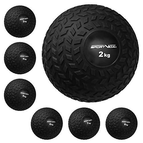Slam Ball Gummi Medizinball. Fitnessball Gewicht 2-8 kg mit Griffiger Oberfläche. Durchmesser Medizinballs 23...