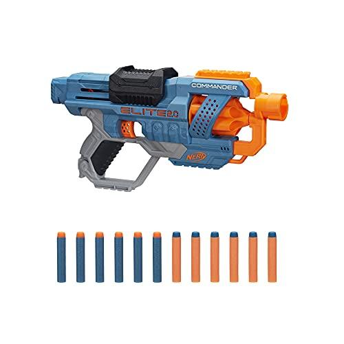 Hasbro E9485EU4 Nerf Elite 2 Commander RD-6 Blaster, 12 Nerf Darts, 6-Dart Rotationstrommel, Tactical Rail...