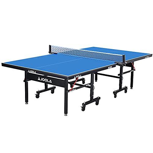 JOOLA Tischtennisplatte Inside 18 Tischtennistisch Indoor klappbares Untergestell – Schneller Aufbau, Blau,...