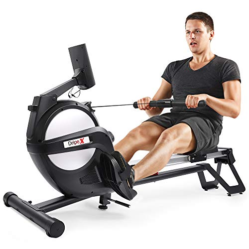 Dripex Rudergerät für Fitness zu Hause, rudermaschine mit LED-Monitor 3 kg Schwungmasse und 15 stufige...
