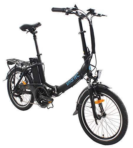 smartEC Camp-20D Klapprad E-Bike, 20 Zoll, Anfahrhilfe, 7 Gänge, Fahrunterstützung 25 km/h, Reichweite 100...