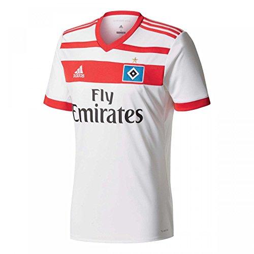 adidas Herren Hamburger SV Heim Replica Trikot, White/Scarlet, S