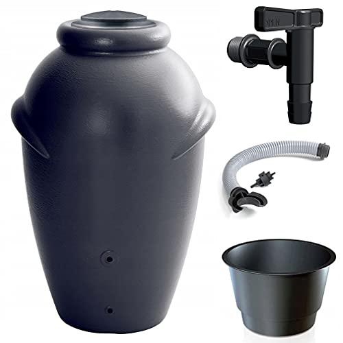 Primegarden 210 Liter Aqua CAN Regenamphore Regentonne Regenwassertank Regenwassertonne Wasserspeicher mit...