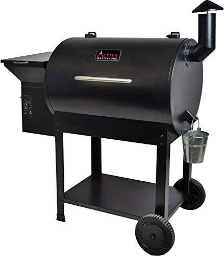 ACTIVA Grill Pelletsmoker XXL Grillwagen Smoker BBQ Barbeque Räuchern Smoken Räucherofen, Pellet-Smoker,...