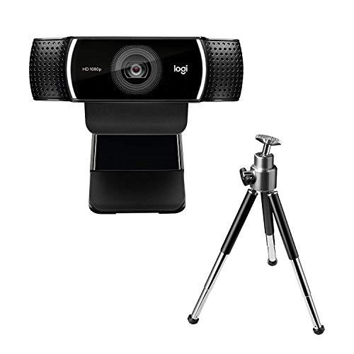 Logitech C922 PRO Webcam mit Stativ, Full-HD 1080p, 78° Sichtfeld, Autofokus, Belichtungskorrektur,...