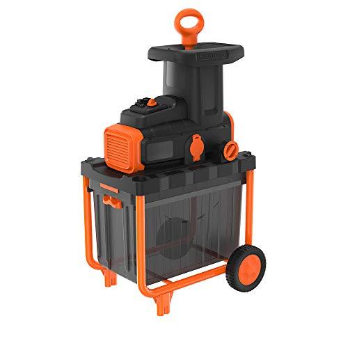 Black+Decker BEGAS5800 2.800 Watt Elektro-Leisehäcksler (zur schnellen Zerkleinerung von Zweigen und Ästen...
