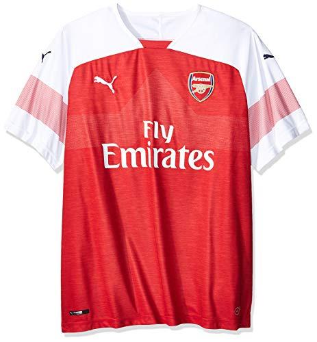 PUMA Herren Arsenal FC Home Shirt Replica SS with EPL Sponsor Logo Trikot, Chili Pepper Heather-White-Chili...