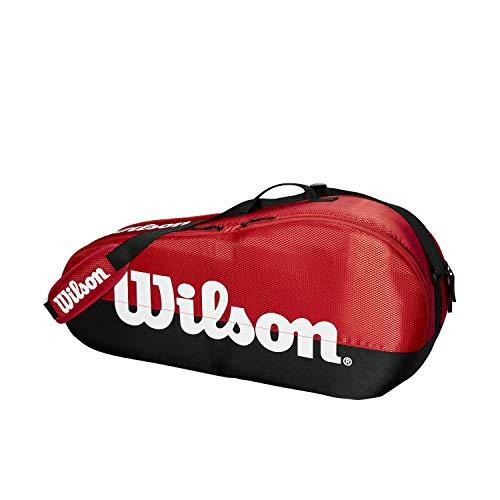 Wilson Team 1-Fach-Tennistasche , Unisex – Erwachsenerot/schwarz/weiss