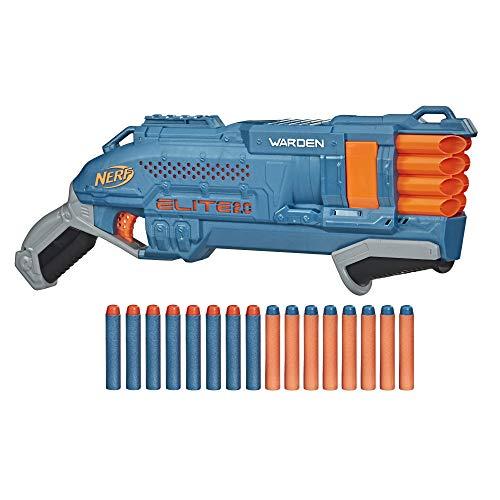 Nerf Elite 2.0 Warden DB-8 Blaster, 16 Nerf Darts, 2 Darts gleichzeitig abfeuern, Tactical Rail Steckschiene...