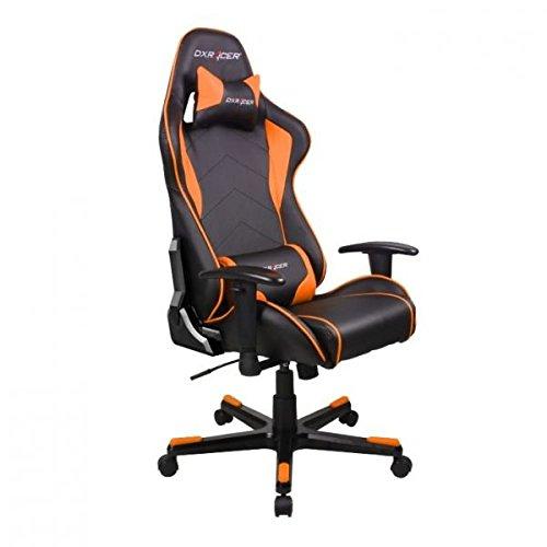 DXRacer OH/FE08/NO DX Racer, F-Serie, Formular Serie, Bürostuhl, Drehstuhl, Kunstleder schwarz-orange, das...