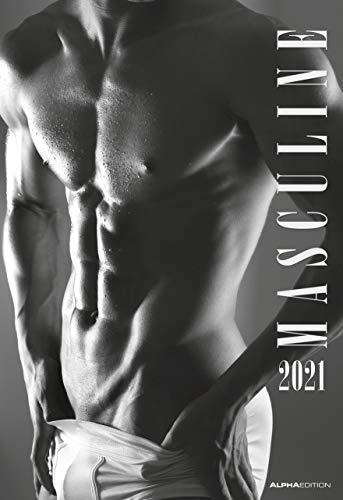 Masculine 2021 - Bild-Kalender 34x49,5cm - Men - Männer - schwarz-weiß - Erotikkalender - Wand-Kalender -...