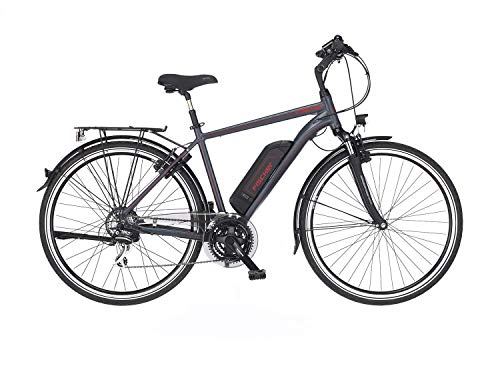 FISCHER Herren - Trekking E-Bike ETH 1806, Elektrofahrrad, anthrazit matt, 28 Zoll, RH 50 cm, Hinterradmotor...