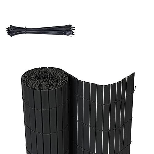 Sekey PVC Sichtschutzmatte Quadratische Röhre Sichtschutzzaun Verstärkt Starke Privatsphäre für Garten,...
