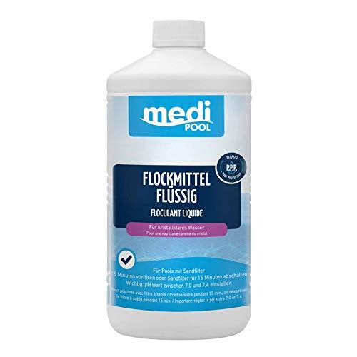 Flockmittel Flüssig 1 l von mediPOOL - Flockung - Trübungsbeseitigung für alle Pools und Schwimmbecken mit...