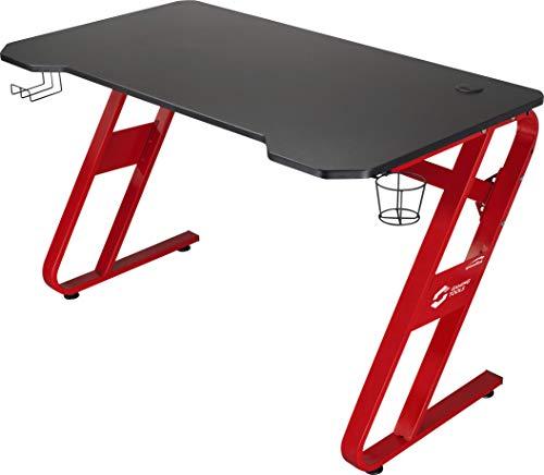 SPEEDLINK SCARIT Desk-Z-Shaped Gaming Schreibtisch mit Kabelmanagement Headsethalterung und Getränkehalterung...