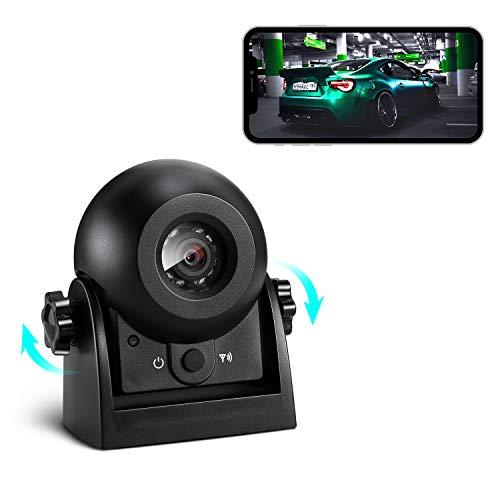 Kabellose Rückfahrkamera, Uzone WiFi Auto magnetische Rückfahrkamera Super Nachtsicht IP68 Wasserdicht...