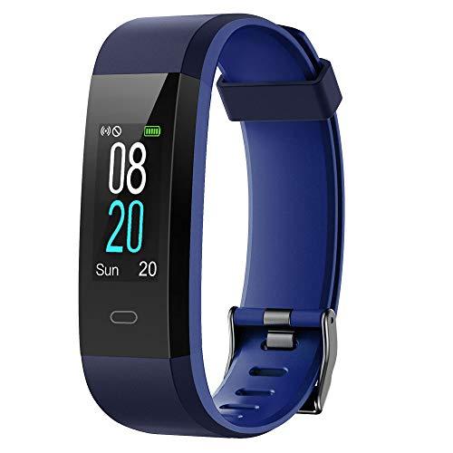 YAMAY Fitness Tracker,Smartwatch Wasserdicht IP68 Fitness Armband mit Pulsmesser 0,96 Zoll Farbbildschirm...