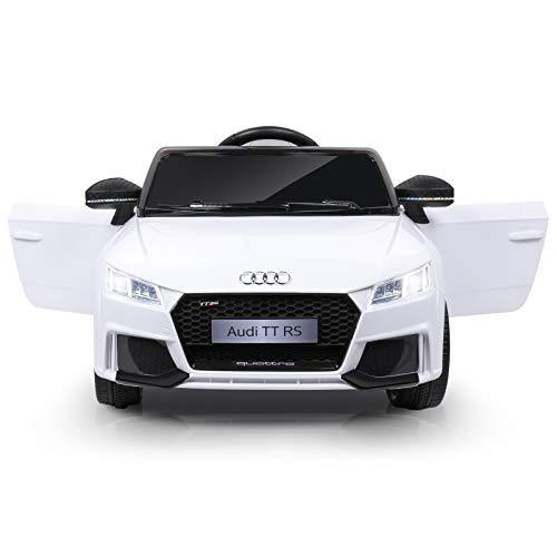 Kinder Elektroauto, 12V Kinderauto, 2,4G Fernbedienung, LED-Beleuchtung, High/ Low Speed, Hupe,...