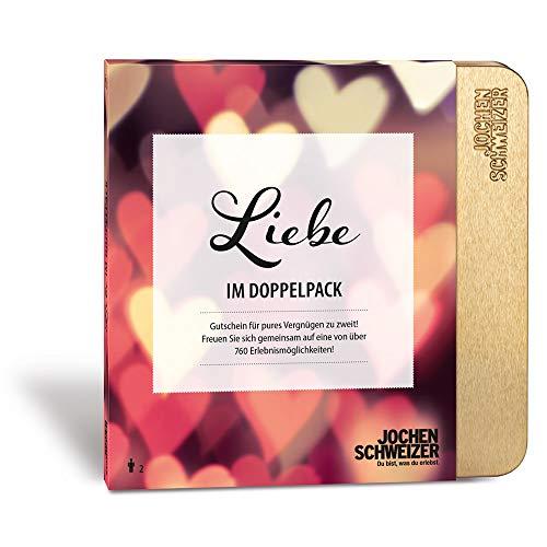 Jochen Schweizer Erlebnis-Box Liebe im Doppelpack, über 760 Erlebnisstandorte, Romantische Geschenke für 2...