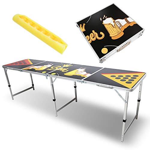 Hengda Beer Pong Tisch Set Audio Table Design Partyspiele Trinkspiele 6 Bälle Classic Beer Pong Table...