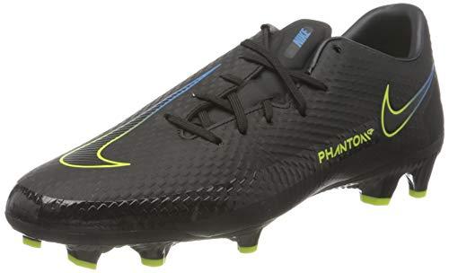 Nike Unisex Phantom GT Academy MG Soccer Shoe, Black/Black-Cyber-Light Photo Blue, 45 EU