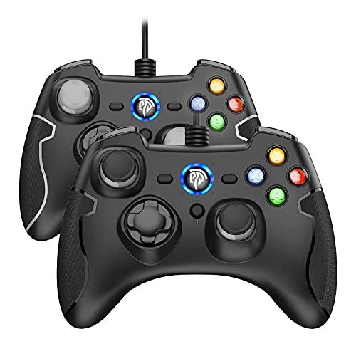 REDSTORM 2er PC Controller mit Kabel für PS3 / Windows PC, Wired PC Gamepad mit Turbo-Funktion(Dauerfeuer),...