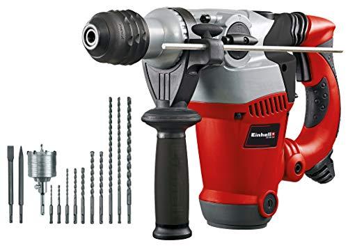 Einhell Bohrhammer-Set RT-RH 32 (1250 W, 3,5 J, Bohrleistung 32 mm, SDS-Plus-Aufnahme, Metall-Tiefenanschlag,...