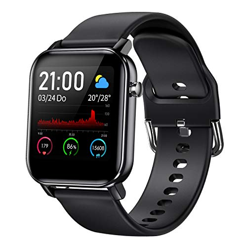 COULAX Smartwatch, Fitness Tracker Armband mit 1.4 Zoll Touch Farbdisplay, Sportuhr mit Pulsmesser...