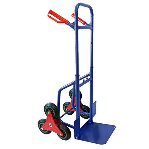 Grafner Treppensteiger Sackkarre klappbar, Belastbarkeit 200kg, sternförmige Räder, solide...