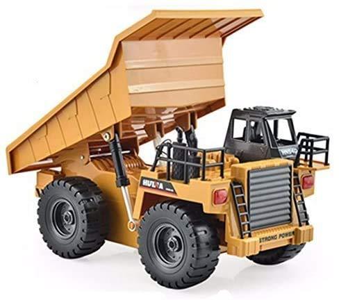 s-idee® S1540 Rc Kipper 6 Kanal Muldenkipper Tieflader Truck 1:18 mit 2,4 GHz kippbare Ladefläche Huina 1540