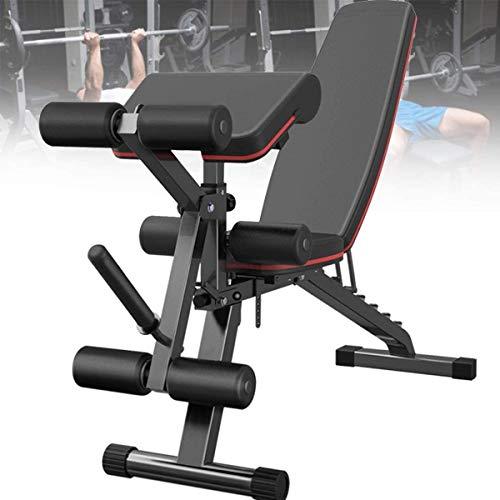 VULID Faltbare Fitness Flachbank, Hantelbank mit Beinstrecker und Beinbeuger, 7-Fach verstellbare...