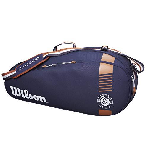 Wilson Schlägertasche Roland Garros Team 3, Bis zu 3 Schläger, Marineblau/Braun, WR8006801001