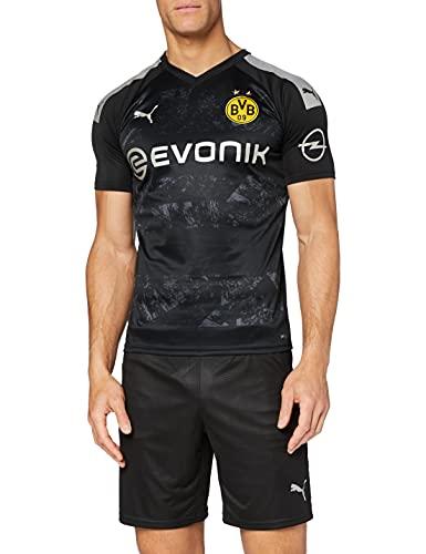PUMA Herren BVB Away Shirt Replica with Ev Trikot, Puma Black, L