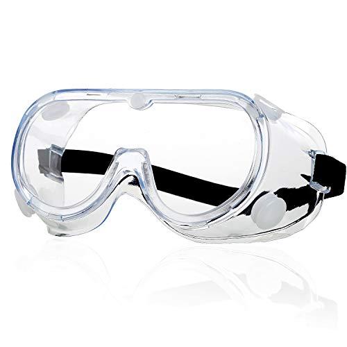Schutzbrille - Anti Nebel Klar Augenschutz Brille Workshops Labor Baustellen Anti-Speichel Anti-Spucken...