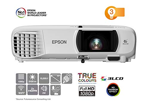 Epson EH-TW650 3LCD-Projektor (Full HD, 3100 Lumen, 15.000:1 Kontrast)