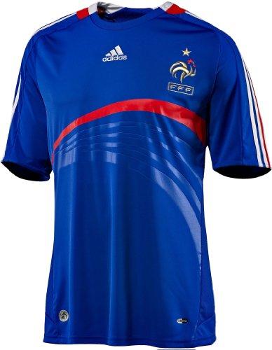 Adidas 620139 Frankreich FFF Home Trikot, Blue/Red (FFFBLUE98/FFFRED), Gre: L